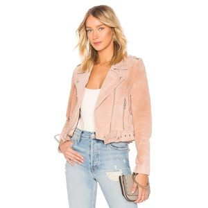 Blank NYC Suede Moto Jacket In Candy Crush Blush